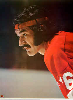 "Henry Boucha ""Superstar"" Detroit Red Wings NHL Action Poster - Sports Posters Inc. 1973"