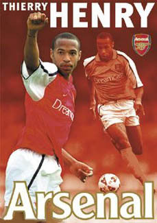 "Thierry Henry ""Super Action"" Arsenal FC Poster - GB 2002"