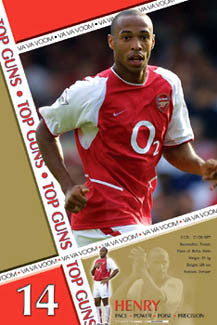 "Thierry Henry ""Top Gun"" Arsenal FC Poster - U.K. 2003"