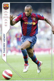 "Thierry Henry ""Barcelona"" FC Barca Official Poster - GB 2007"