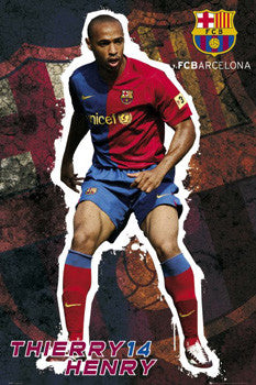 "Thierry Henry ""Barca Pride"" FC Barcelona Soccer Poster - GB Eye 2008"