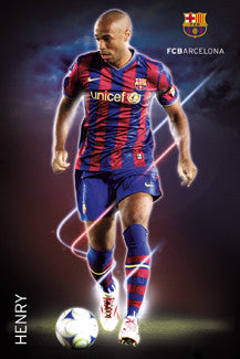 "Thierry Henry ""Cyclone"" FC Barcelona 2009/10 Poster - GB Eye"