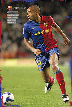 "Thierry Henry ""SuperAction"" FC Barcelona Poster - G.E. (Spain) 2010"