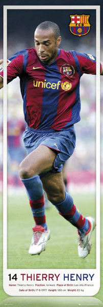 "Thierry Henry ""Big-Time"" (Door-Sized) FC Barcelona Poster - GB Eye 2008"