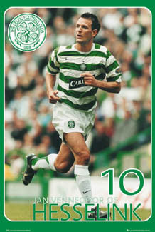"Jan Vennegoor of Hesselink ""Super Action"" Glasgow Celtic FC Poster - GB 2007"