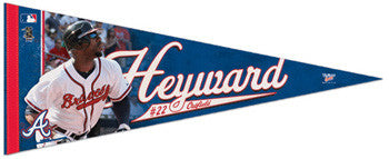 "Jason Heyward ""Action"" Premium Felt Collector's Pennant (LE /2010) - Wincraft"