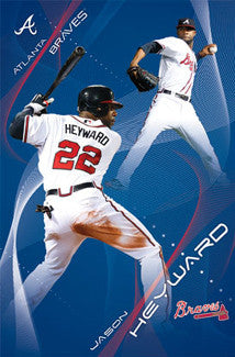 "Jason Heyward ""Superstar"" Atlanta Braves Action Poster - Costacos 2011"