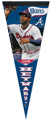 "Jason Heyward ""Signature"" Atlanta Braves Premium Felt Collector's Pennant - Wincraft 2013"