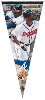 "Jason Heyward ""Big-Time"" Extra-Large Premium Felt Pennant - Wincraft 2010"