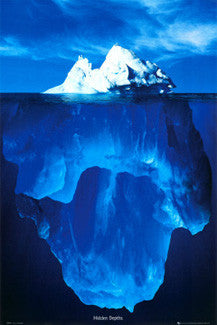 "Iceberg in Water ""Hidden Depths"" Poster - GB Eye"