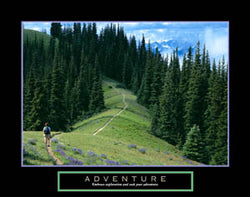 "Hiking ""Adventure"" Motivational Poster - Front Line"