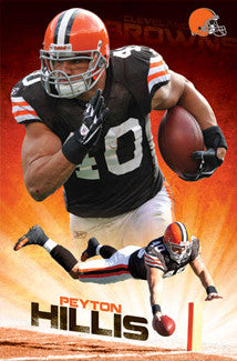 "Peyton Hillis ""Power Back"" Cleveland Browns Poster - Costacos 2011"