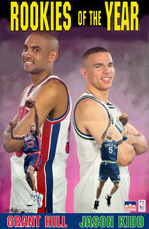 Grant Hill Jason Kidd 1995 NBA Rookies of the Year Commemorative Poster - Starline 1995
