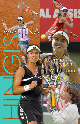 "Martina Hingis ""Champion"" WTA Tennis Commemorative Poster - Tennis Life"