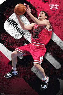 "Kirk Hinrich ""Superstar"" Chicago Bulls NBA Action Poster - Costacos 2007 - LAST ONE"