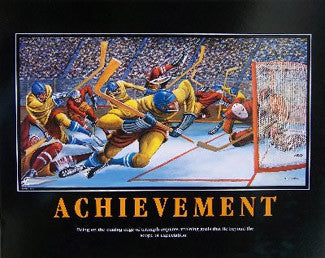 "Hockey ""Achievement"" Motivational Print by Ernie Barnes"