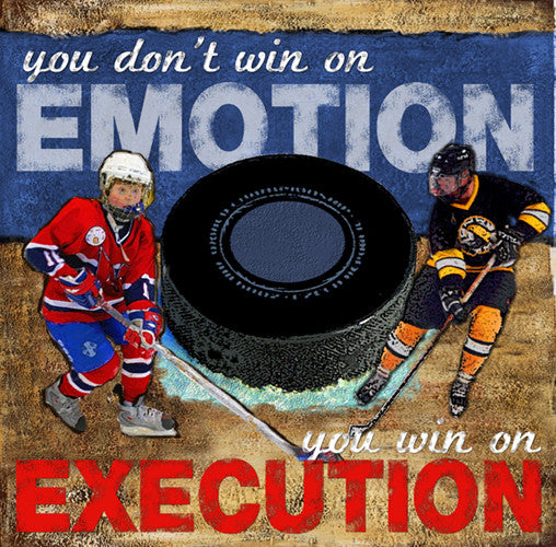 "Hockey ""Emotion/Execution"" Motivational Poster Print - Image Source"