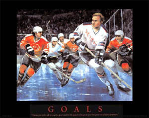 "Hockey ""Goals"" Motivational Poster Print by T.C. Chui - Front Line"