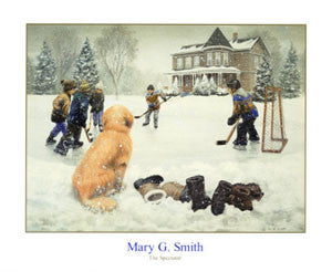 """The Spectator"" (Kids Hockey Art) by Mary G. Smith - NYGS"