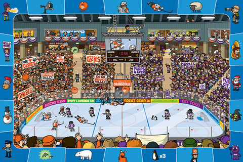 "Hockey Poster for Kids Room (""Spot and Find"") - Eurographics Inc."