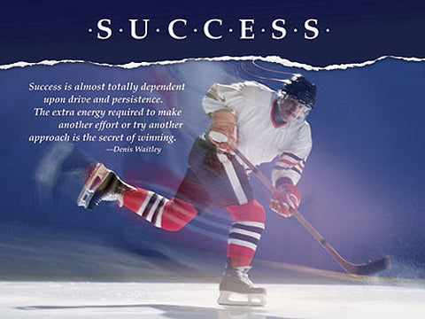 "Hockey Slapshot ""Success"" Motivational Inspirational Poster - Jaguar Inc."