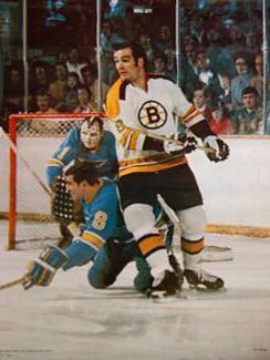 Ken Hodge (Boston Bruins) vs. St. Louis Blues - Action Sport Photos 1972