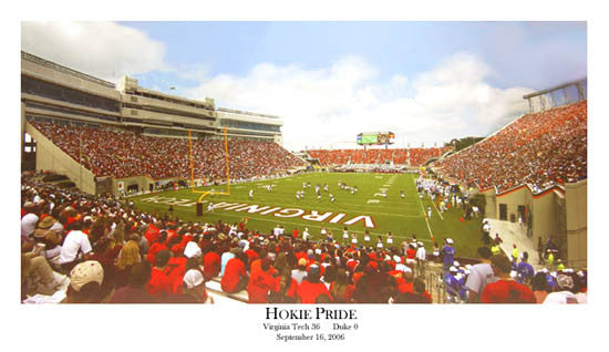 "Virginia Tech Hokies Football ""Hokie Pride"" Lane Stadium Gameday Panoramic Poster Print"