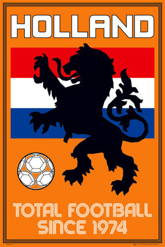 "Team Holland ""Total Football Since 1974"" National Team Poster - GB Eye"