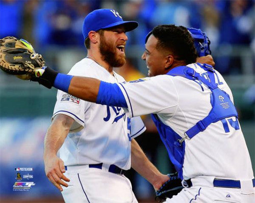 "Greg Holland/Santiago Perez ""Celebration"" Kansas City Royals Premium Poster Print - Photofile 16x20"