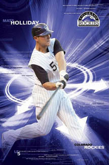 "Matt Holliday ""Cyclone"" Colorado Rockies Poster - Costacos 2008"