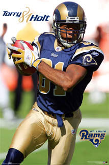 "Torry Holt ""81 Action"" St. Louis Rams Poster- Costacos 2006"