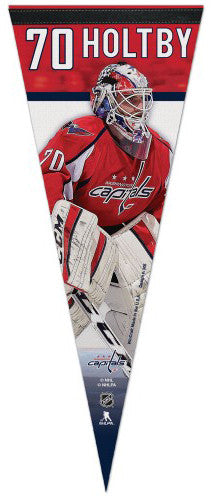 "Braden Holtby ""Superstar Series"" Washington Capitals Premium Felt Collector's Pennant - Wincraft"
