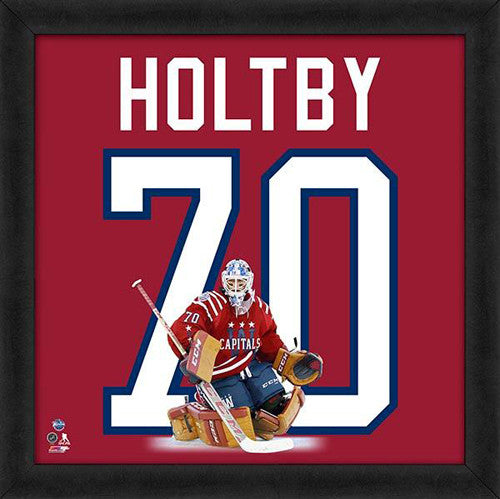 "Braden Holtby ""Number 70"" Washington Capitals FRAMED 20x20 UNIFRAME PRINT - Photofile"