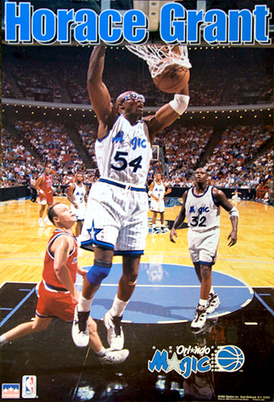 "Horace Grant ""Slam"" Orlando Magic NBA Action Poster - Starline 1995"