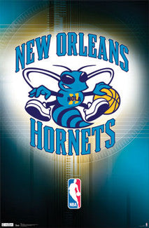 New Orleans Hornets Official NBA Team Logo Poster - Costacos Sports
