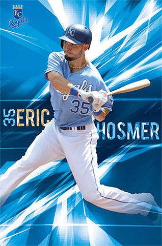 "Eric Hosmer ""Blue Blood"" Kansas City Royals MLB Action Wall Poster - Costacos Sports"