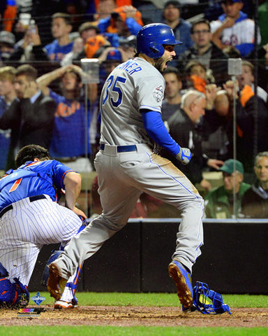 "Eric Hosmer ""Safe at Home"" KC Royals 2015 World Series Premium 16x20 Poster Print"