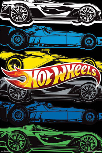 Hot Wheels Slot Racers Cool Cars Official Poster - Trends International Inc.