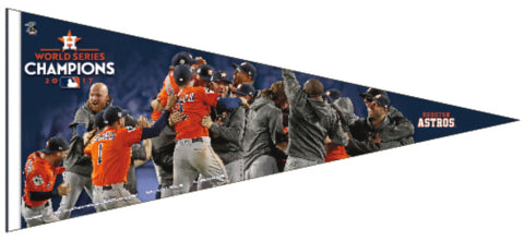 Houston Astros 2017 World Series CELEBRATION Premium 17x40 XL Felt Pennant - Wincraft