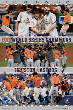 Houston Astros 2017 World Series CELEBRATION Commemorative Poster - Trends International
