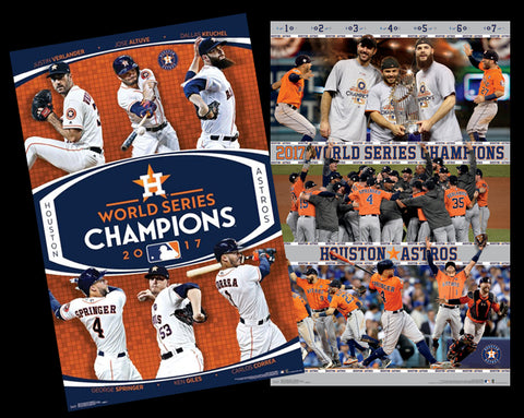 COMBO: Houston Astros 2017 World Series Champions 2-Poster Commemorative Set - Trends International