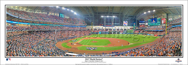 "*SHIPS 11/24* Houston Astros ""World Series Action 2017"" Minute Maid Park Panoramic Poster Print - Everlasting Images"