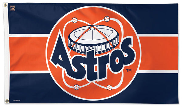 "Houston Astros ""Astrodome '80s"" Style (1977-93) Cooperstown Collection MLB Baseball Deluxe-Edition 3'x5' Flag - Wincraft"
