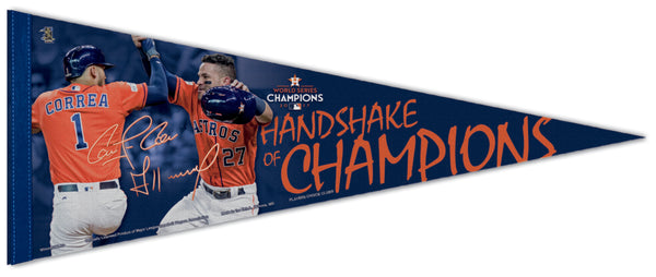 "Houston Astros 2017 World Series ""Handshake of Champions"" (Altuve and Correa) Premium Felt Collector's Pennant"