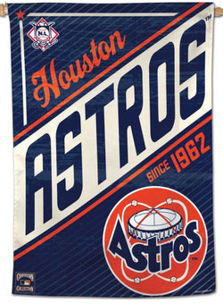 "Houston Astros ""Since 1962"" Cooperstown Collection Premium 28x40 Wall Banner - Wincraft Inc."