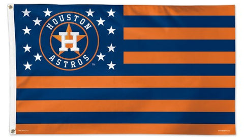 Houston Astros Stars-and-Stripes Official MLB Baseball Team DELUXE-EDITION 3'x5' Flag - Wincraft Inc.