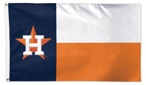 Houston Astros Texas-State-Flag-Style Official MLB Baseball Team DELUXE-EDITION 3'x5' Flag - Wincraft Inc.