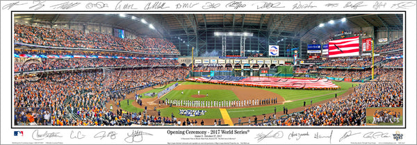 "*SHIPS 11/24* Houston Astros ""World Series Majesty 2017"" Panoramic Poster Print w/24 Facs. Signatures - Everlasting Images"