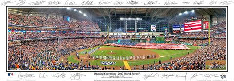 "Houston Astros ""World Series Majesty 2017"" Panoramic Poster Print w/24 Facs. Signatures - Everlasting Images"