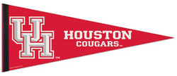 University of Houston Cougars NCAA Sports Team Logo Premium Felt Pennant - Wincraft Inc.